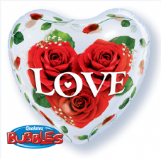 Love Rose Heart Bubble Balloon
